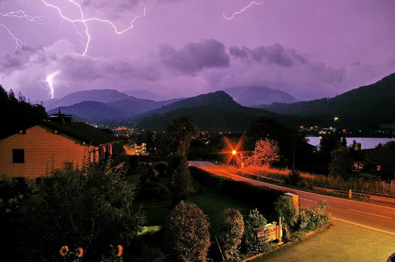 Thunderstorm in Fuschl am See - Austria