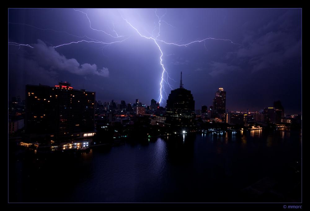 Thunderstorm on the Chao Praya