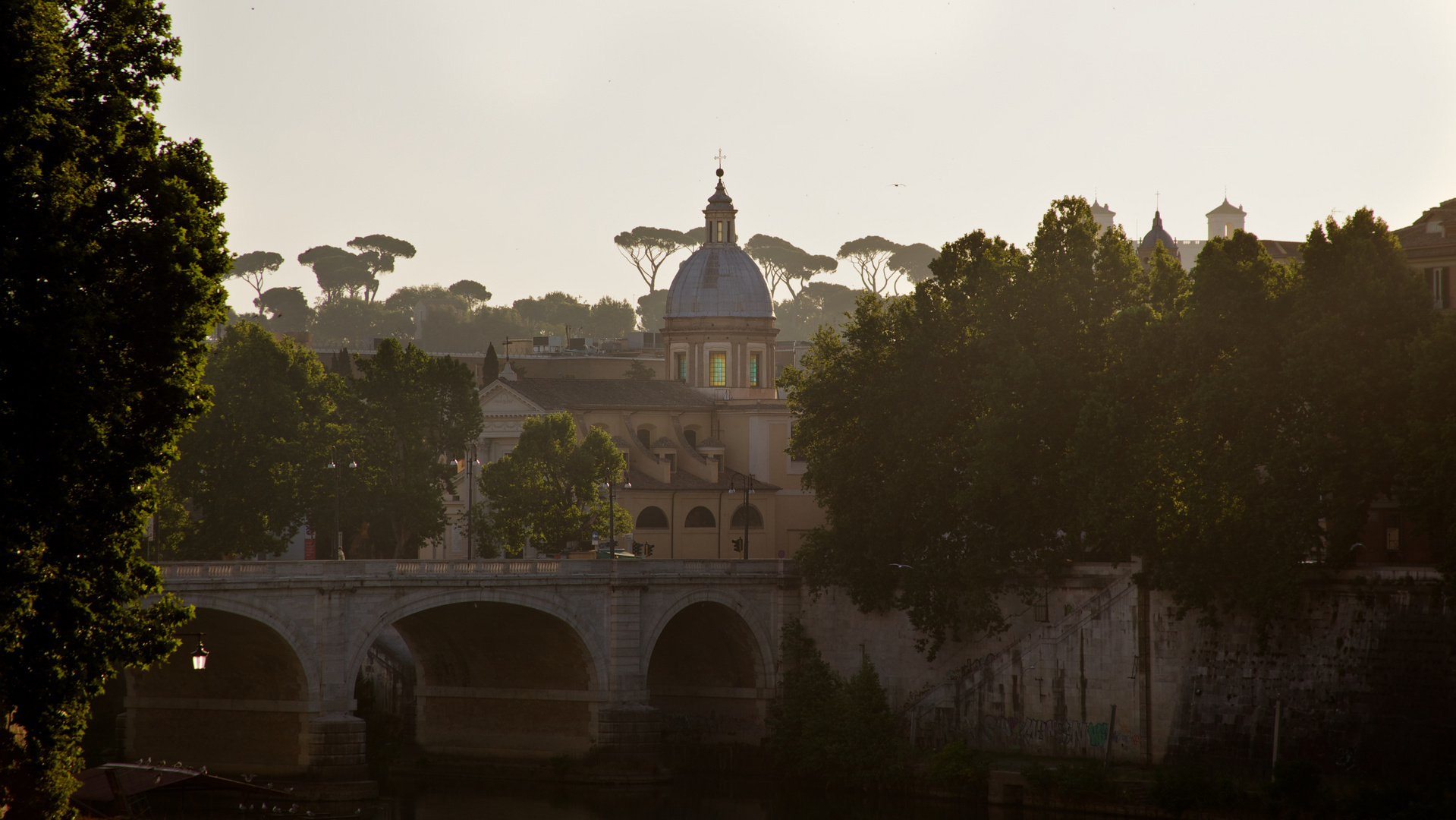 Tiber am Morgen