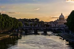 Tiber in der Abendsonne