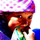 Tibetan girl chew