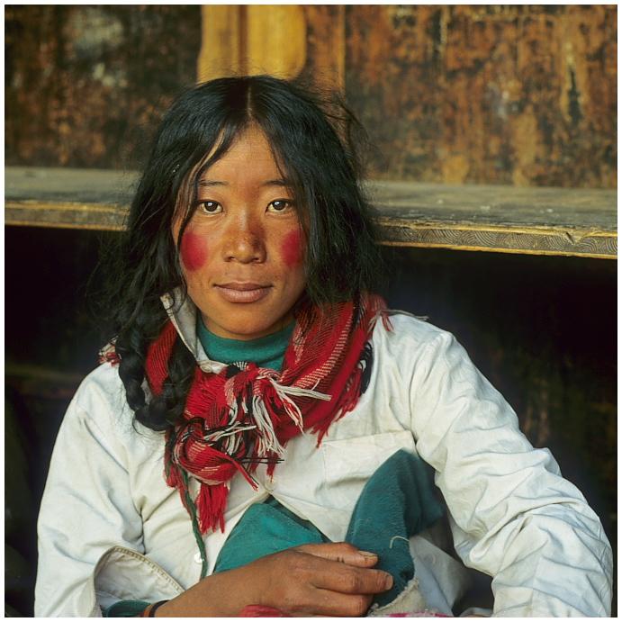 Tibeterin in Lhasa 01