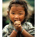 Tibeterkind in Sikkim
