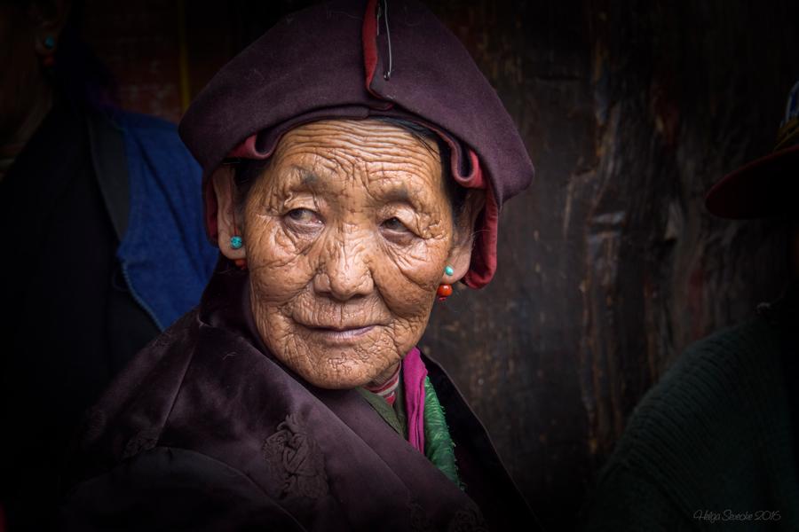 Tibetische Pilgerin