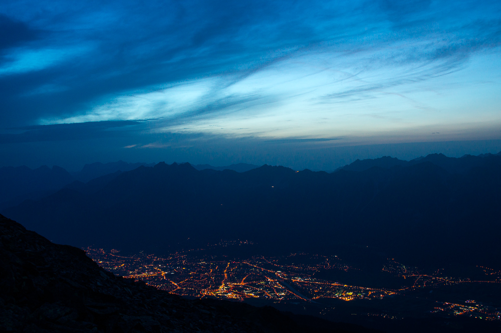 Tiefblick auf Innsbruck