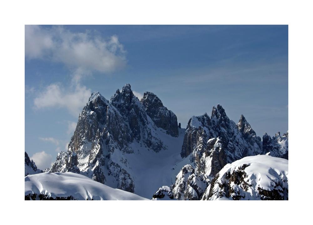 Tiefster Winter über den Cadinisp.