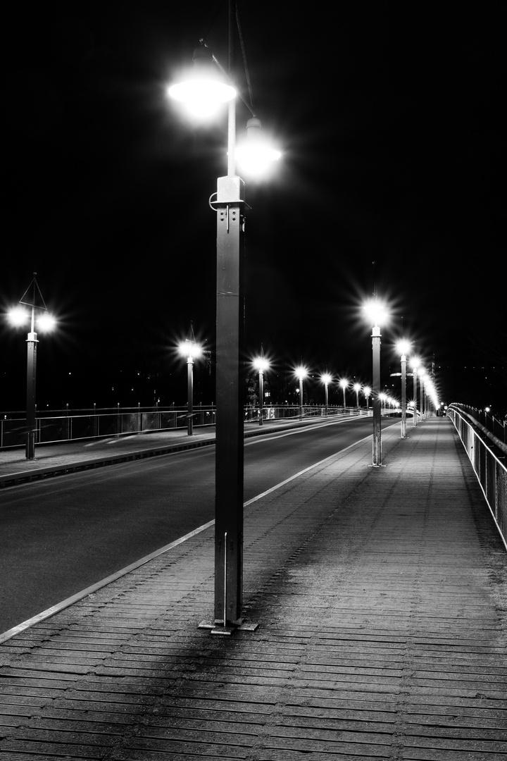 Tierpark-Brücke bei Nacht 3