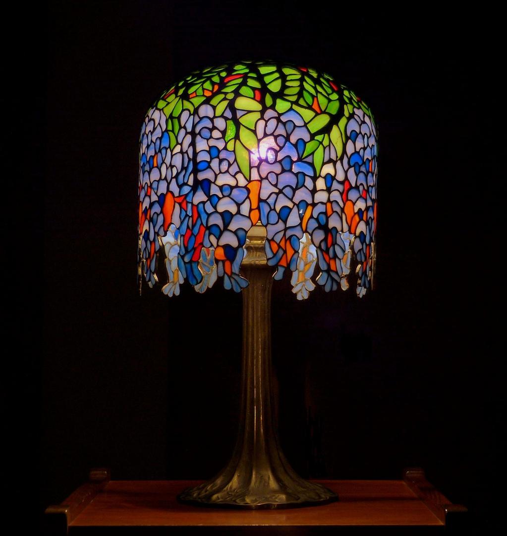 Tiffany Lampe Miniatur Wisteria