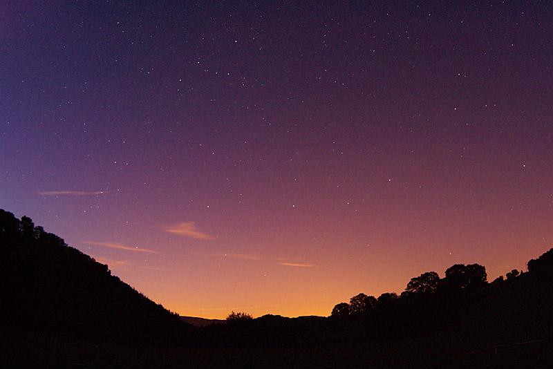 'Til dawn's fingers creep across the sky