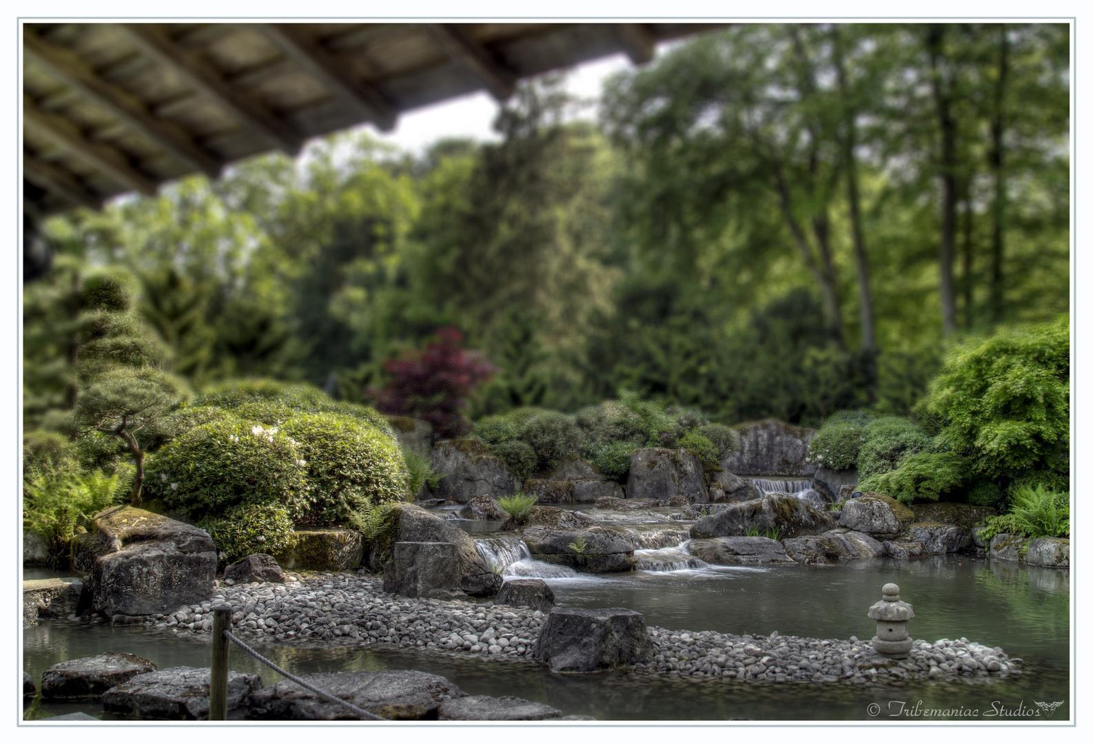 Tilt Shift Japanischer Garten Augsburg Ii Foto Bild