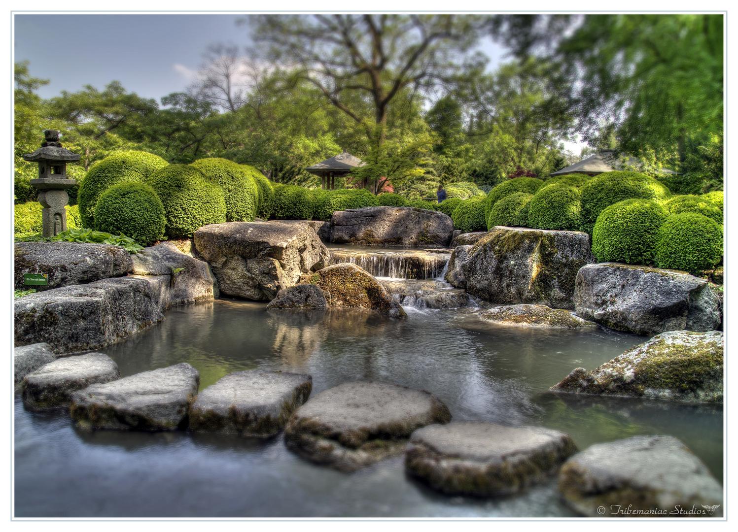 Tilt Shift Japanischer Garten Augsburg Iii Foto Bild