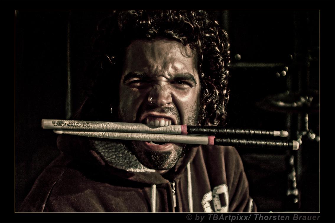 Tim Husung eat sticks