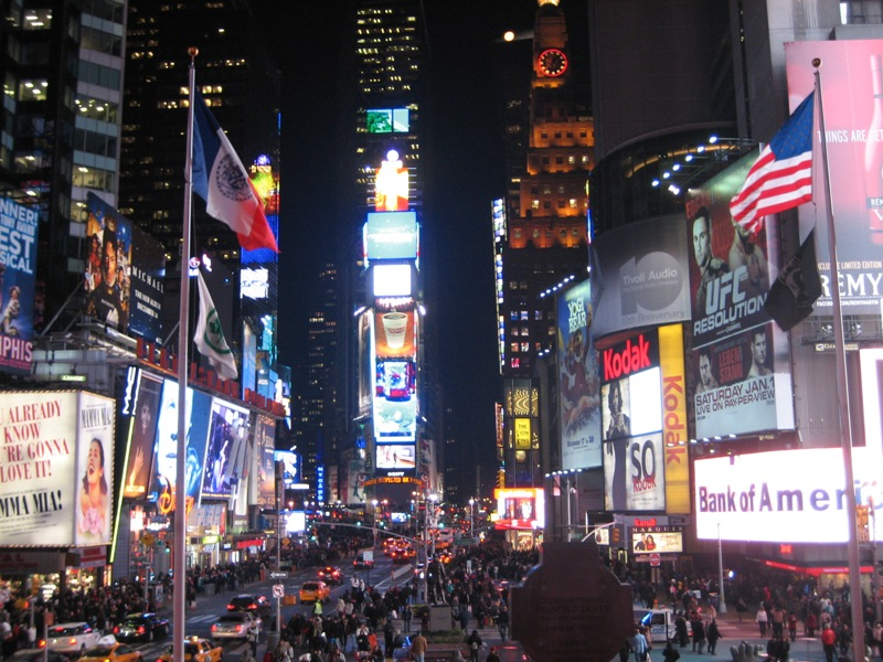 Time Square bei Nacht