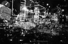 Time Square black&white