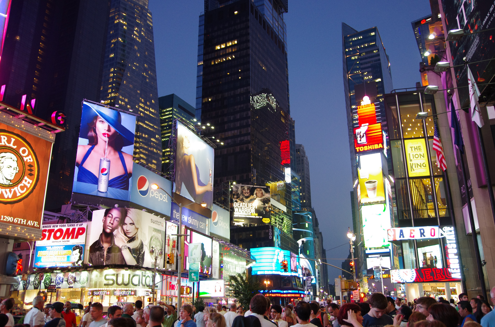 Time Square in a summer night
