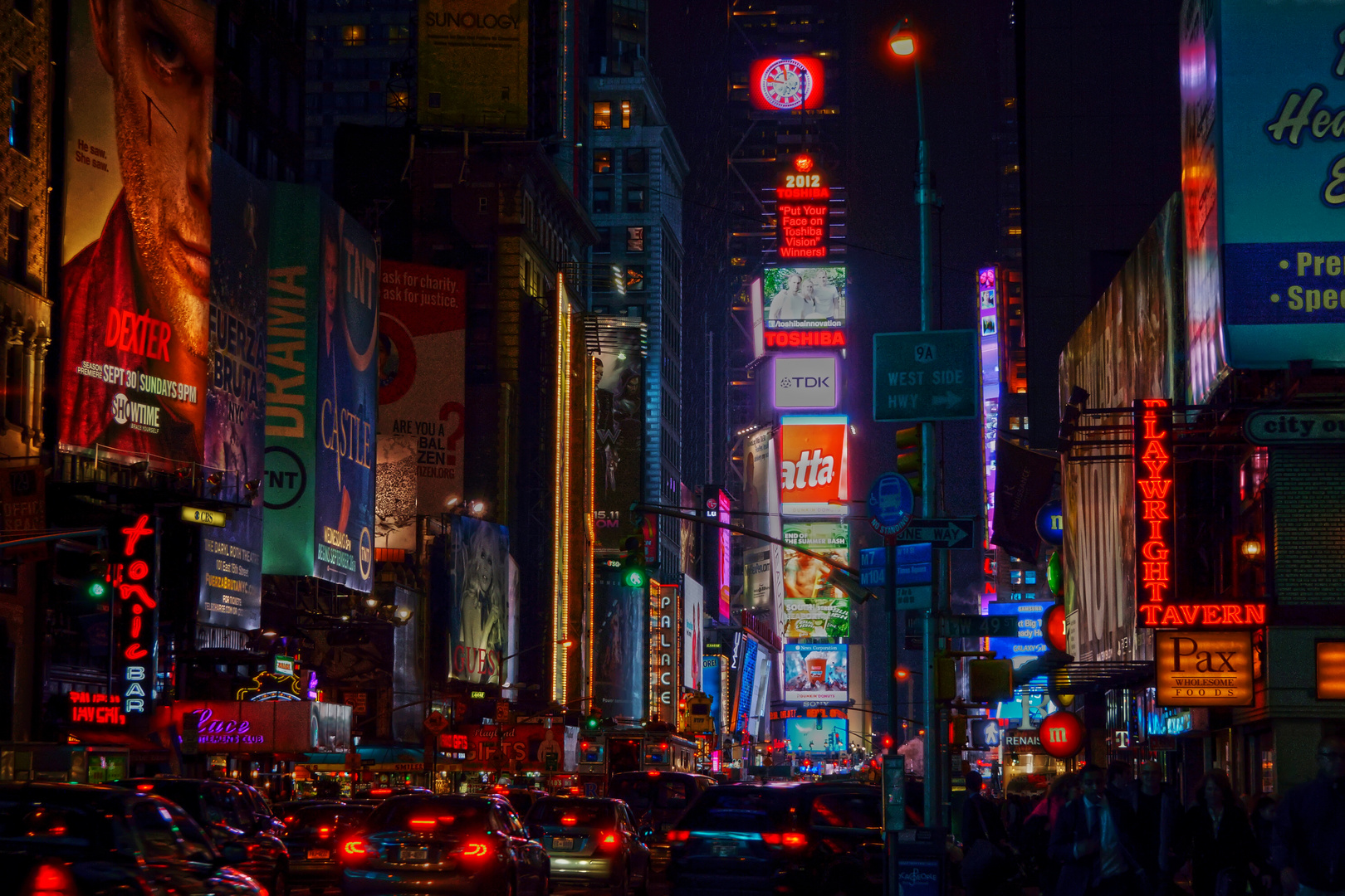Times Square - experimentiert