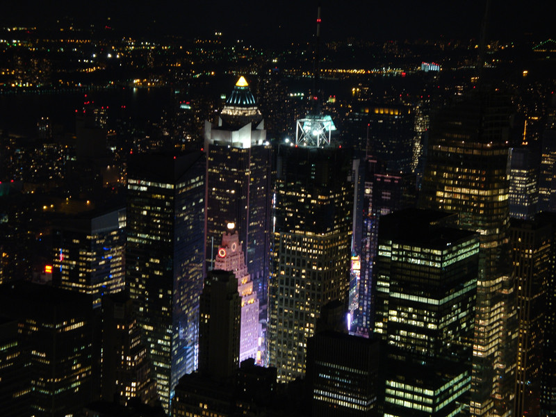 Times Square. Picture taken from the Empire State Building.
