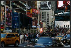 Times Square Samstagmittag