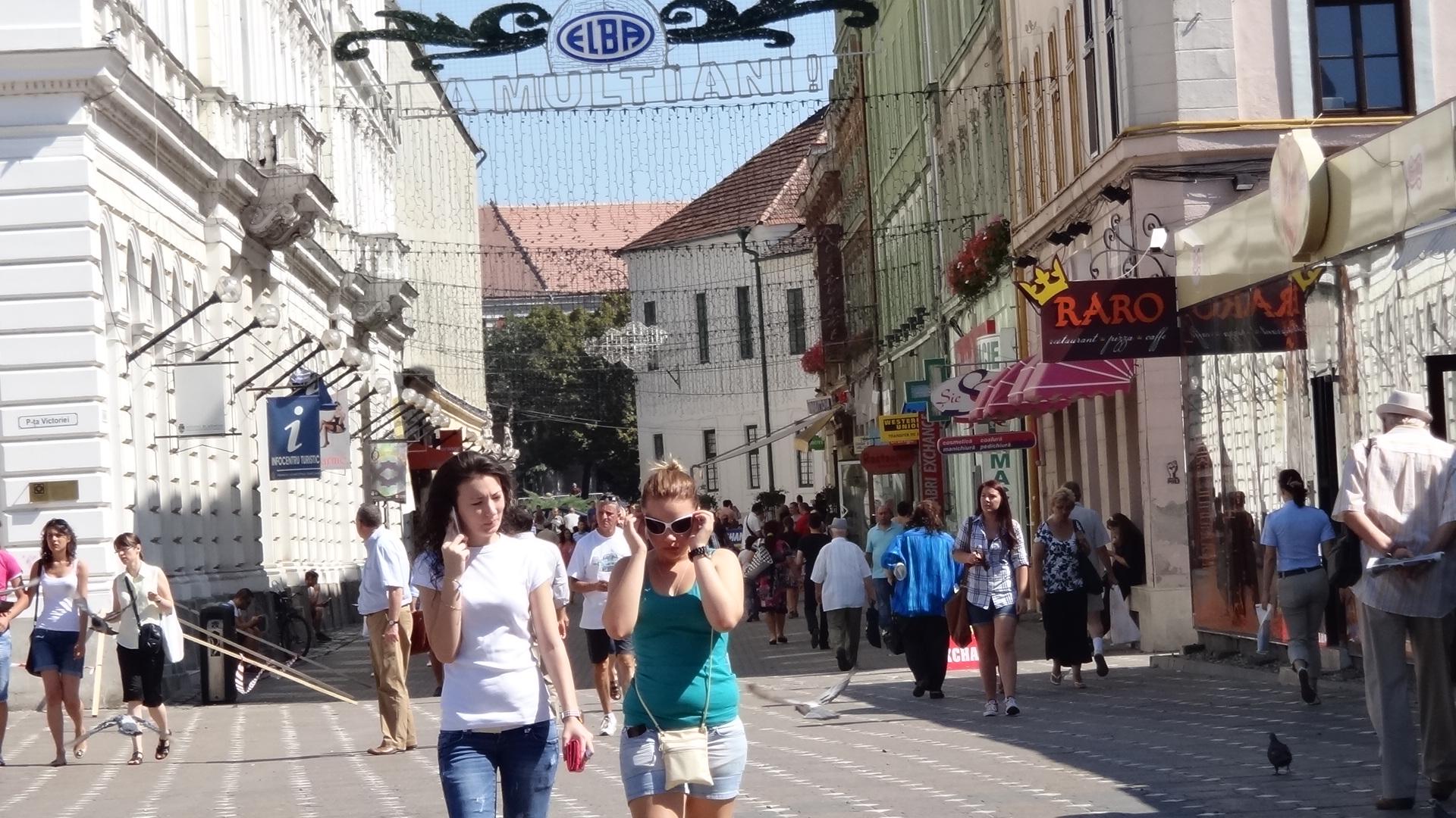 Timisoara Centru Alba Iulia Street Foto Bild Landschaft