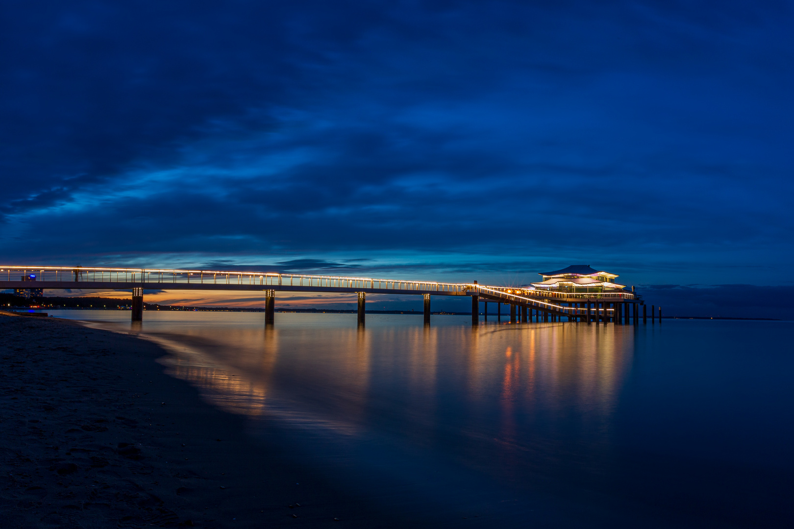 Timmendorfer Strand bei Sonnenuntergang