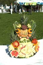 Tisch Deko beim Grillfest