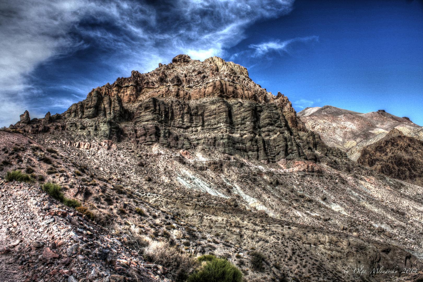Titus Canyon Road.