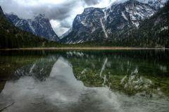 Toblacher See mit Spiegelung