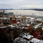 Toits colorés de la ville de Québec
