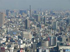 Tokyo, Blick vom Rathaus, bei schönstem Wetter kann man von hier den FUJI sehen