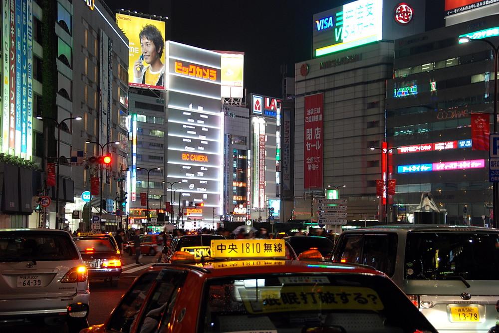 Tokyo - Ikebukuro at Night - Taxi