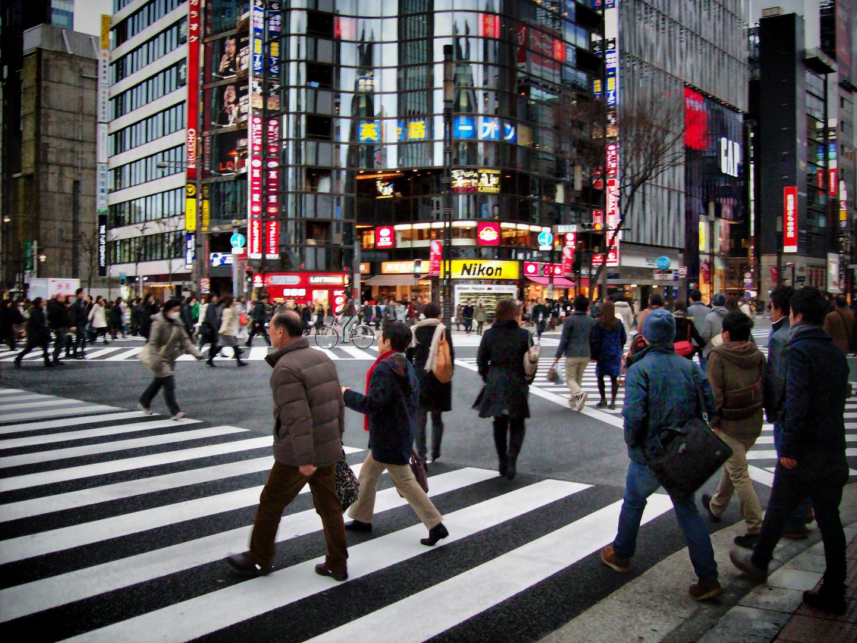 Tokyo, pasos de peatones