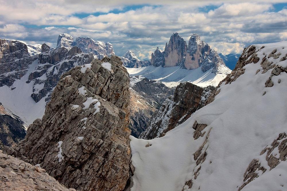 Tolle Ausblicke hat man beim Aufstieg zum Dürrenstein 2839 m.