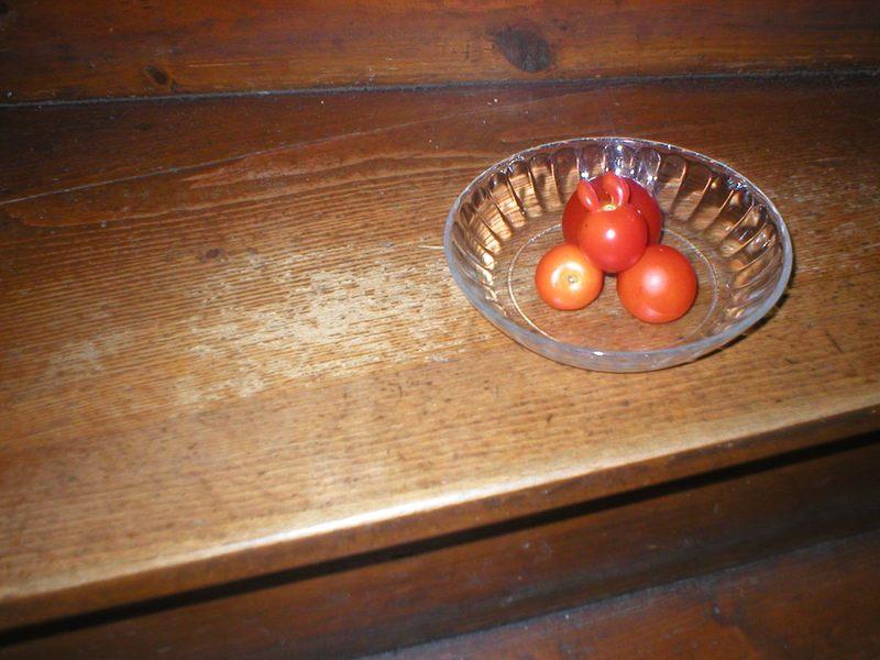Tomate mit Öhrchen!