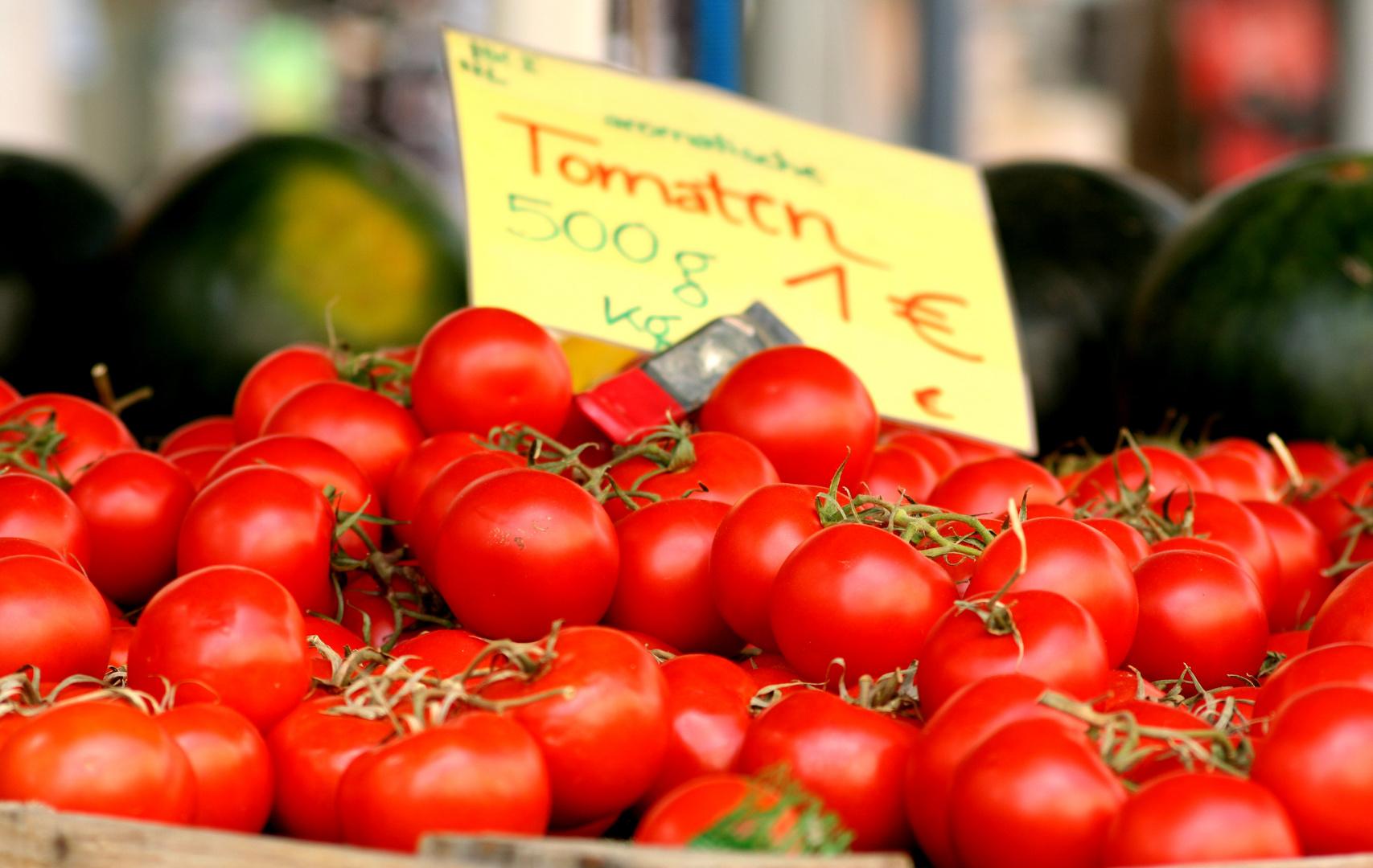 Tomaten auf dem Wochenmarkt