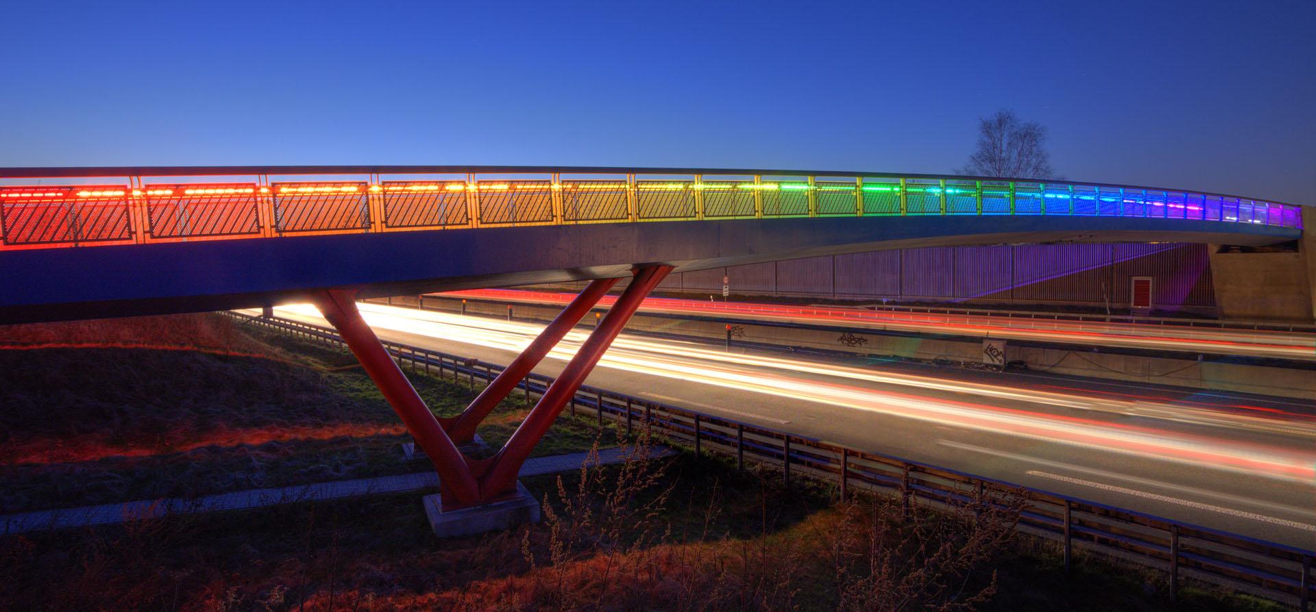 Top 5 Regenbogenbrücke A40 Dortmund