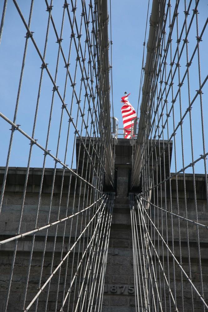 Top of a bridge.
