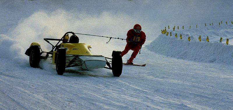 Top-Speed mit Skiern
