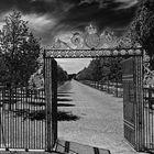 Tor in den königlichen Park Drottningholm