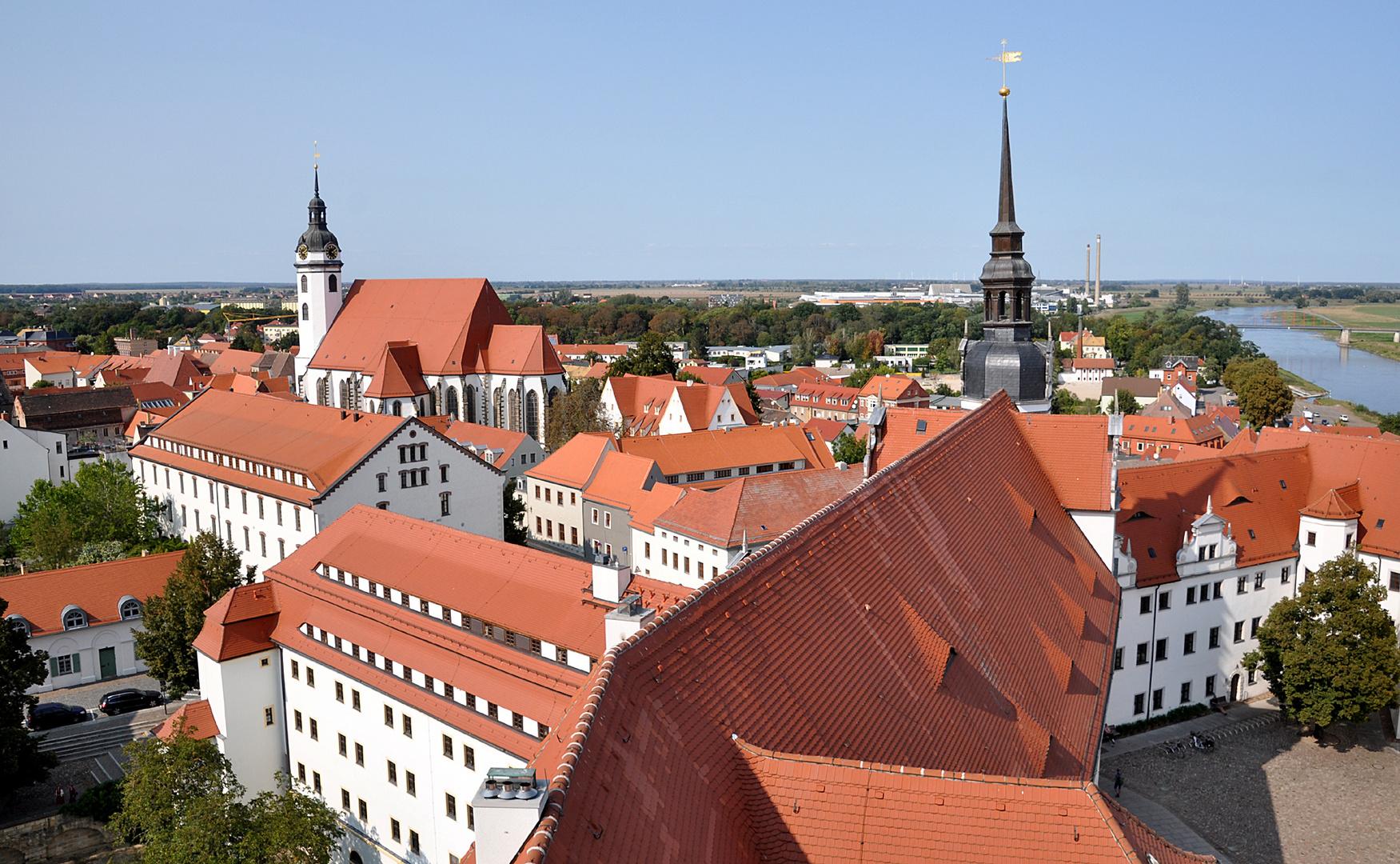 Torgau von Oben