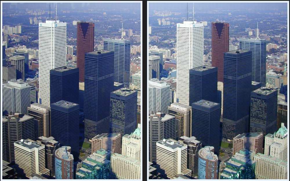 Toronto aus der Vogelperspektive
