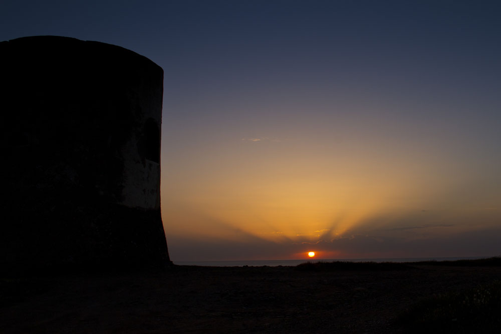 Torre im Sonnenuntergang