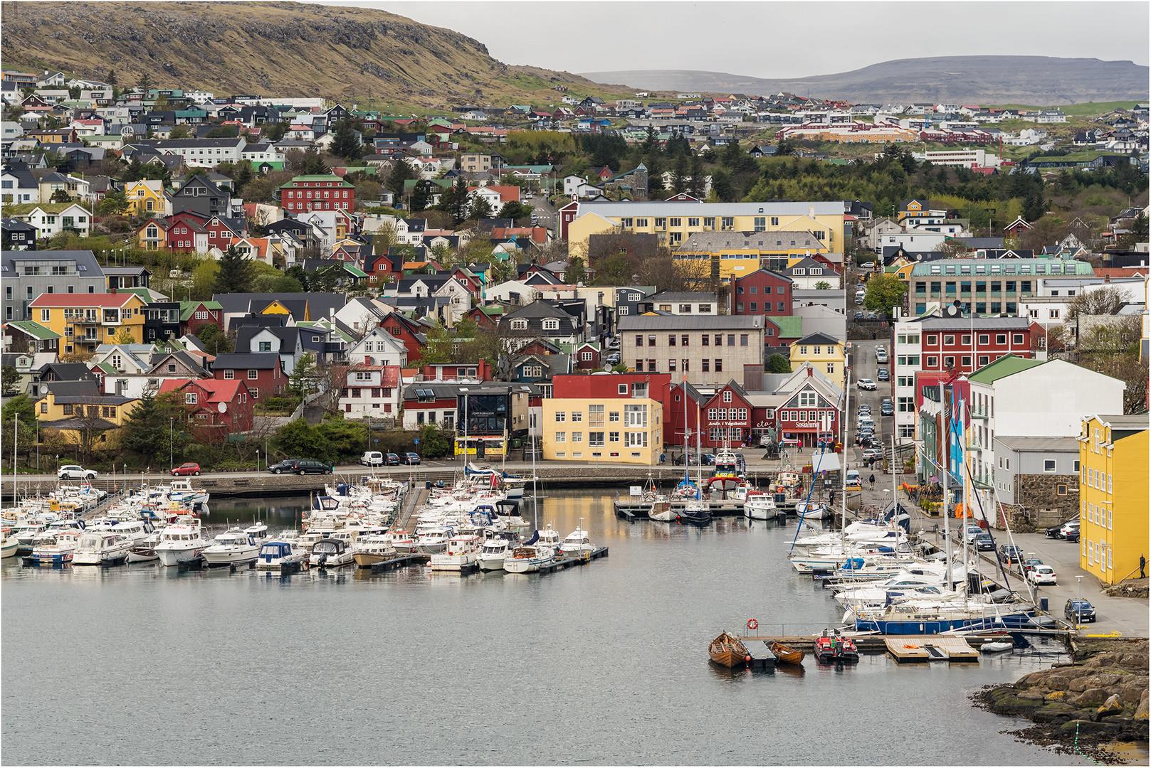 Tórshavn am frühen Nachmittag