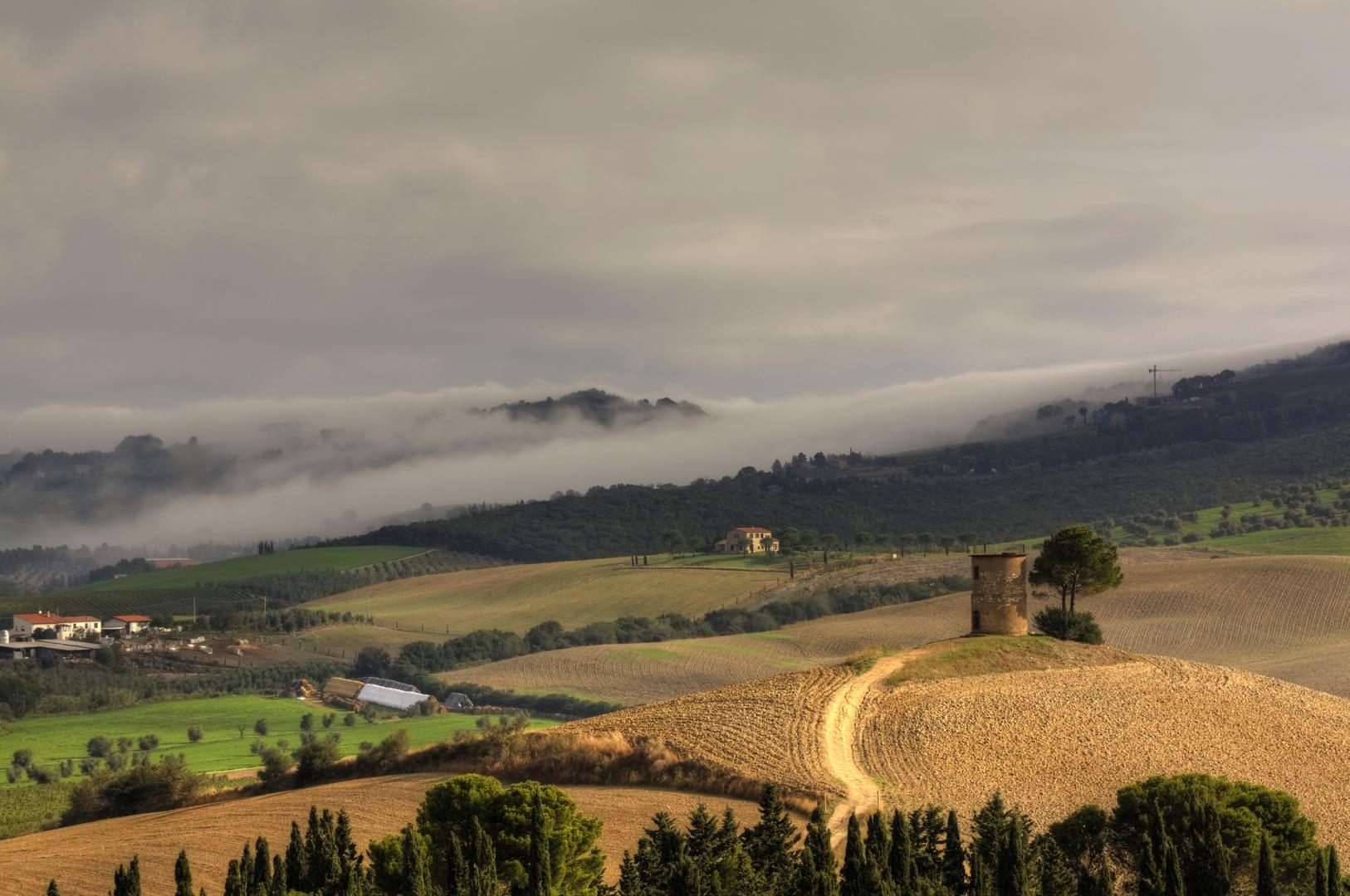 Toscana am Abend