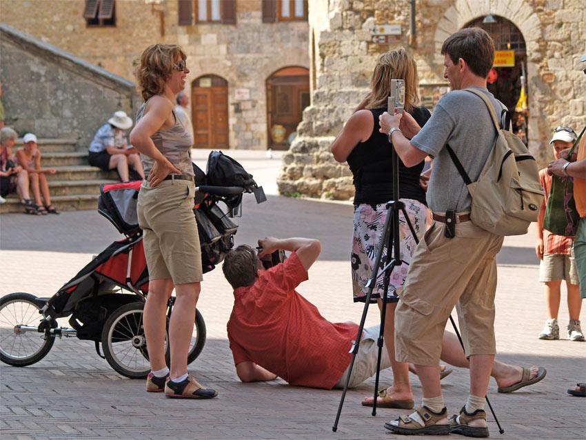 Toskana Touristen von Tobias Jäger | PHOTOTOBI