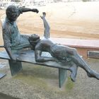Tossa de Mar, statua alnonno