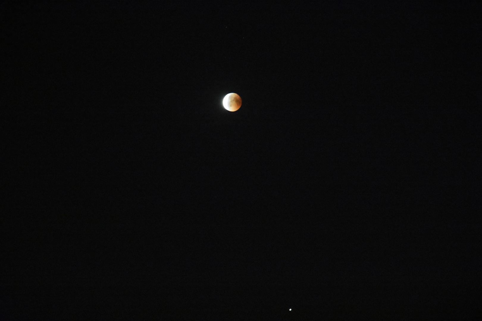 Totale Mondfinsternis 2018 mit dem Mars