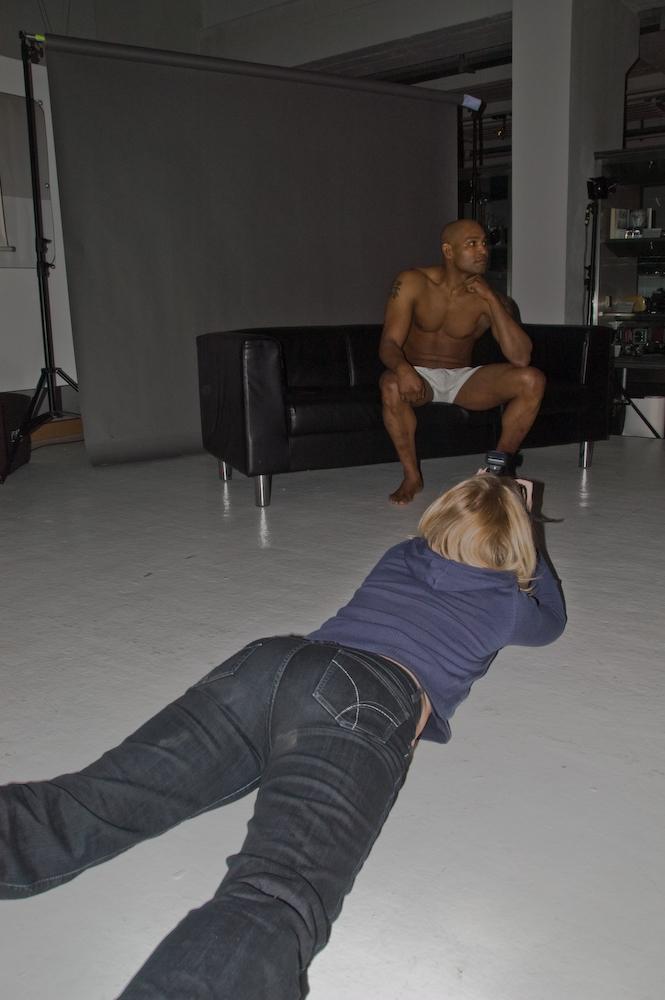 Totaler Körpereinsatz beim Male-Aktworkshop ;-)