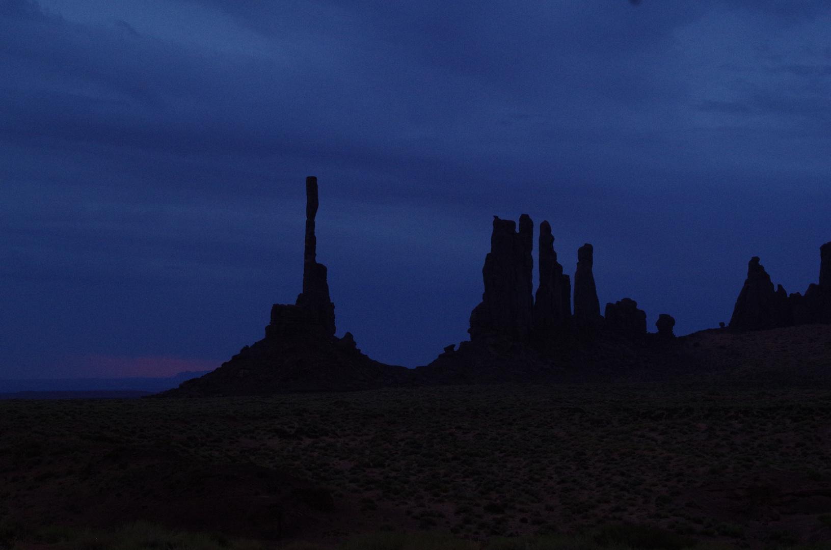 Totem Pole kurz vor Sonnenaufgang