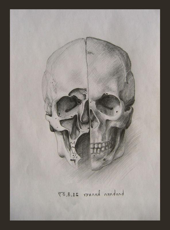 Gezeichneter Totenkopf
