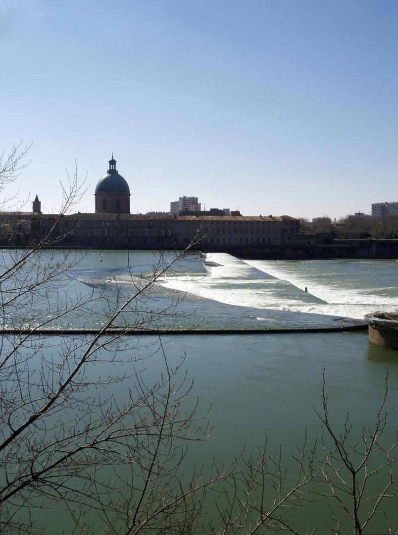 Toulouse 8 - La chaussée du Bazacle sur la Garonne – Der Bazacle Damm auf der Garonne